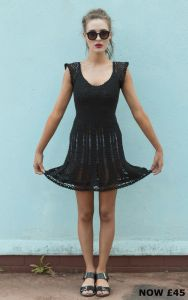 Karroo Sweetheart Dress Black