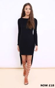 Saella Ribbed Jersey Dress