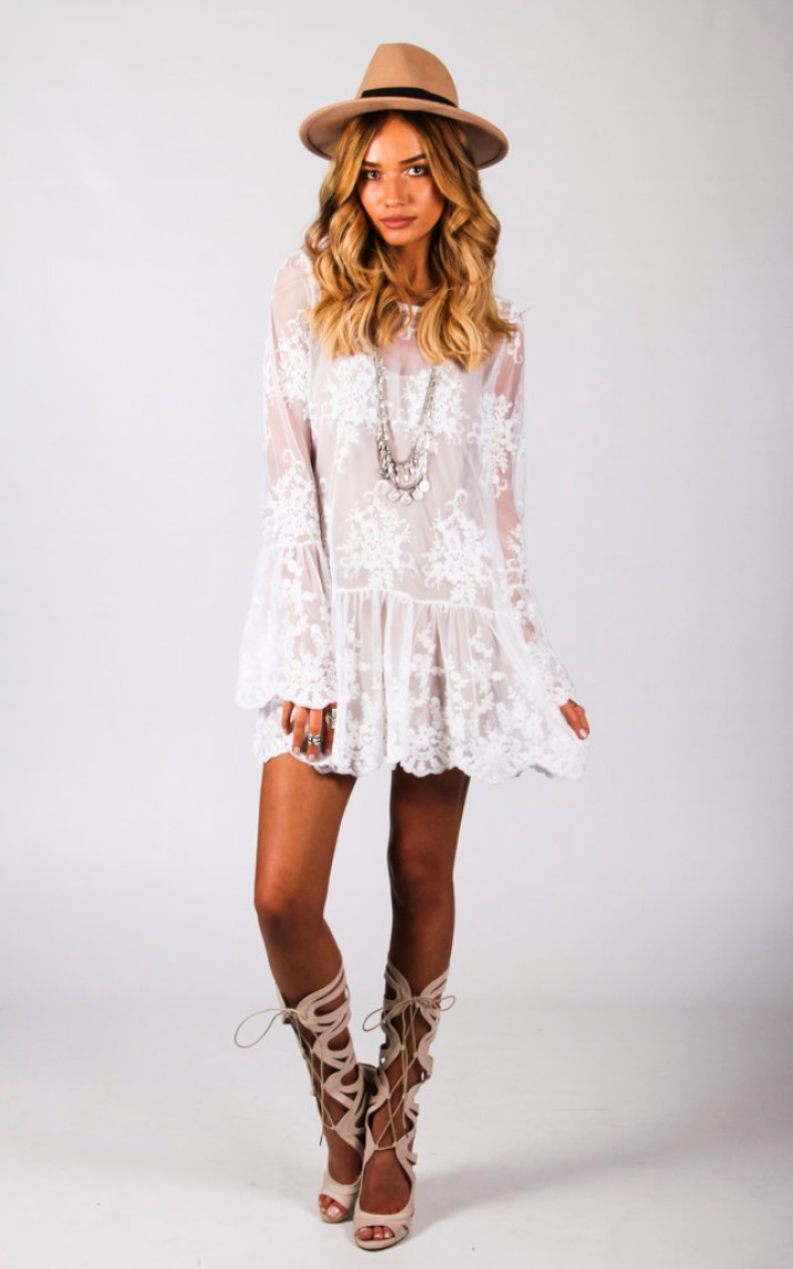 white lace dress by Wired Angel Clothing